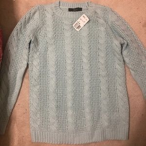 Cable Knit Mint Sweater
